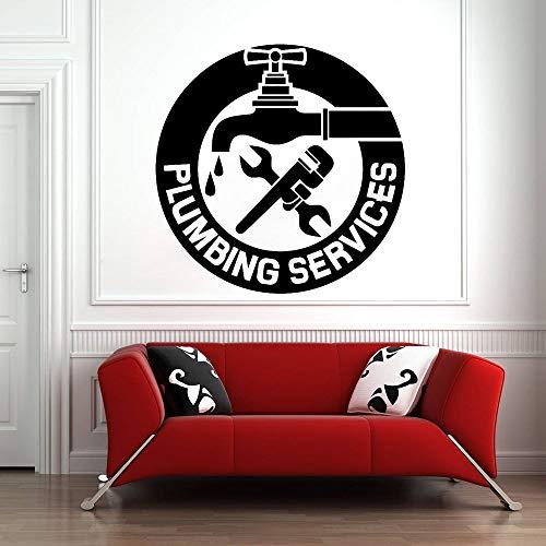 Geiqianjiumai Creative Klempnerservice Klempner Vinyl muurkunst sticker mechanische muursticker waterdicht afneembare garage decoratie poster