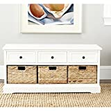 Safavieh American Homes Damien 3-Drawer Storage Unit, Distressed/Cream