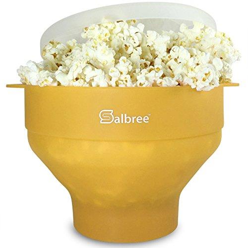 Original Salbree Microwave Popcorn Popper, Silicone Popcorn Maker, Collapsible Bowl BPA Free...