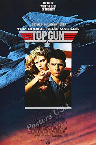 Posters USA Tom Cruise Top Gun Movie Poster GLOSSY FINISH - FIL178 (24' x 36' (61cm x 91.5cm))