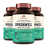 OmegaWell Fish Oil: Heart, Brain, and Joint Support | 800 mg EPA 600 mg DHA - Natural Lemon Flavor, Enteric-Coated, Sustainably Sourced - Easy to Swallow 90 Day Supply