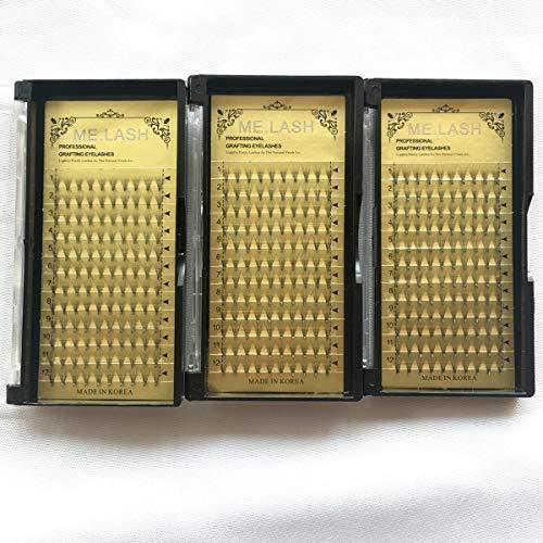Wimpernverlängerung Russische 10D Premade Volume Lashes C Curl, Stärke 0,07 mm Länge:9mm bis 13 mm für Wimpern Extensions (3x9mm)