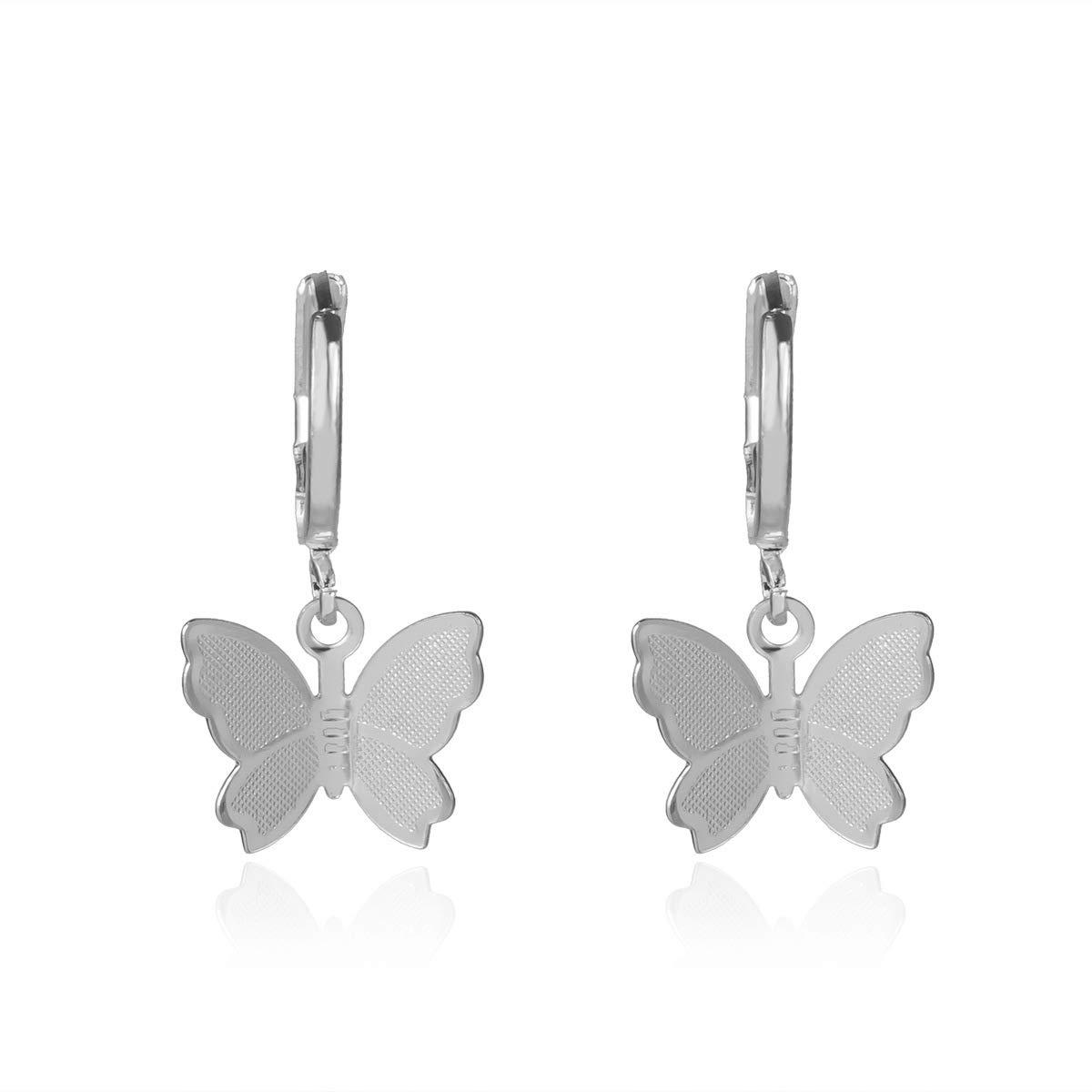 Kercisbeauty Dainty Silver Butterfly Earrings Ranking TOP20 for Women G Max 59% OFF Ladies