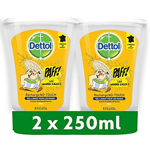 DETTOL Recharge No-Touch Savon Liquide Mains 250 ml Action Nettoyante - Miel (2 Recharges)