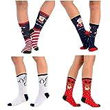 RJM Damen-Socken mit hohem Baumwollanteil, verschiedene Designs, Größe 37-40, 5 Stück