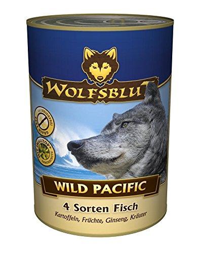 Wolfsblut | Wild Pacific | 6 x 395 g | Seefisch | Nassfutter | Hundefutter | Getreidefrei