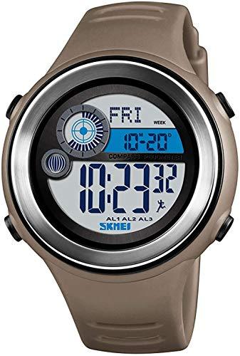 Reloj deportivo para hombre, multifunción, para alpinismo, brújula, cálculo de calorías, monitor de entrenamiento de 12/24 horas, color caqui