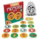Cottify Memoria para niños con bonitos animales, madera de memoria, juguete de madera, juego de memoria, animales de memoria, juegos para niños a partir de 2 años, memoria doble mixta, 16 tarjetas