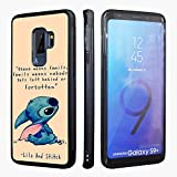 Samsung Galaxy S9 Plus Case,Lilo and Stitch Anti-Skid Soft Rubber TPU Phone Cases for Samsung Galaxy S9+ Hybrid TPU PC Printed Cover with Aluminum Metal