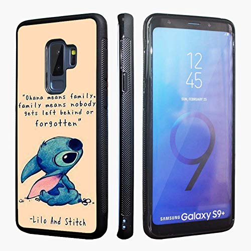 Samsung Galaxy Galaxy S9+ Plus Case,Lilo and Stitch Anti-Skid Hybrid TPU PC Printed Cover with Aluminum Metal Soft TPU Phone Cases for Samsung Galaxy S9 Plus 6.2 inch (2018)