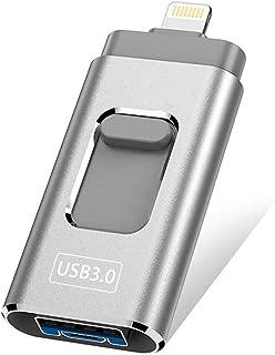 ANXWW 3-in-1 USB 3.0フラッシュドライブUディスクメモリースティックストレージアダプタUSBフラッシュドライブ128GB/256GB/512GB/1TB(iPhone用)Android携帯電話とコンピュータ (512GB)