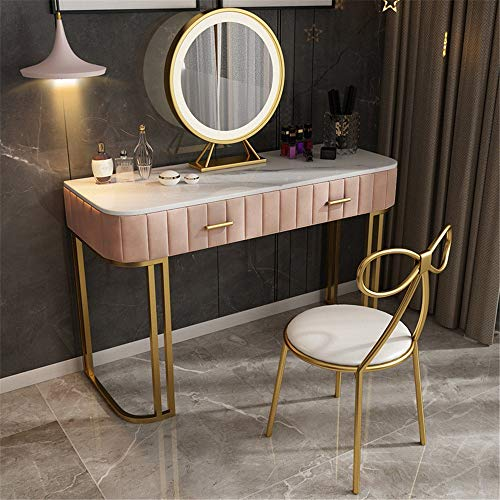 Buy Discount Vanity Set for Women Household Bedroom Dressing Table with Drawer Apartment Dressing Ta...