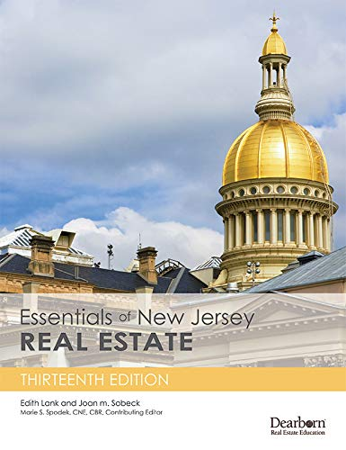 Essentials of New Jersey Real Estate, 13th Edition