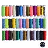 moinkerin 39 Color Hilo de Coser Hilos de Coser para Maquina Kit Costura para Coser a Mano, Coser a Máquina, Bordar
