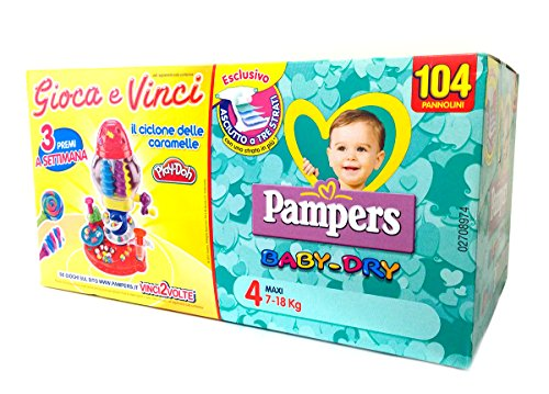 Pampers Windeln Baby Dry 4 Maxi Quadripack