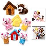 LHKJ 8 Pcs Marionetas de Dedo Animales Cuentos títeres de Mano para niños bebé