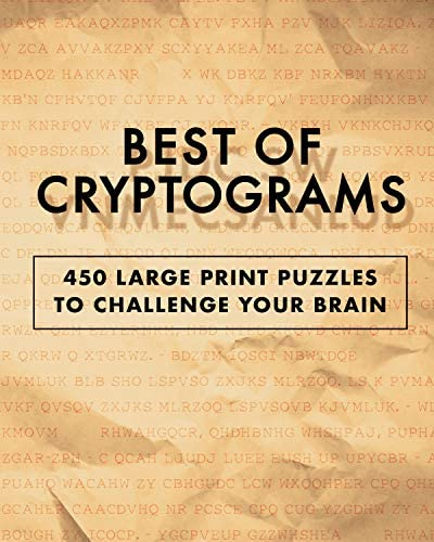 Best of Cryptograms 450 Large Print Puzzles to Flex Your Brain product image