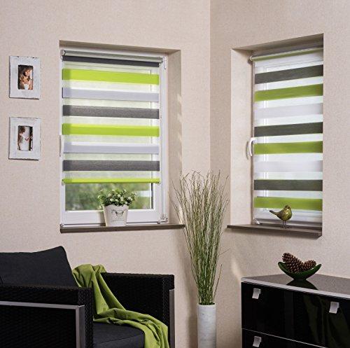 Vidella ZTC3 - Tenda avvolgibile doppia, 3 colori, trasparente, con chiusura laterale Klemmfix, per finestre da 45 x 160 a 98 x 160 cm