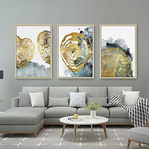 jjshily Quadri Moderni Atmosfera Moderna Cinese Classica Luce Casa Moderna Astratto Trittico Soggiorno Pittura Decorativa Senza Telaio-40X60