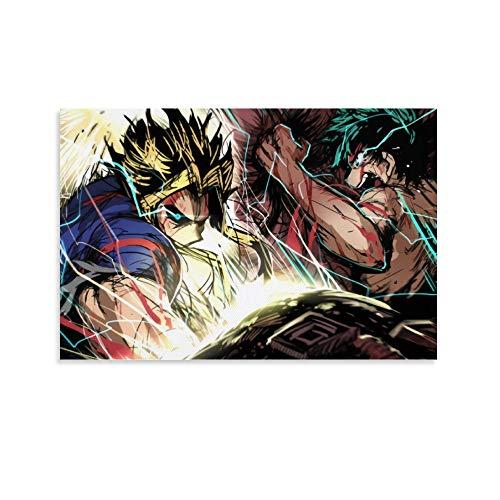 DRAGON VINES Anime My Hero Academia Deku Midoriya Izuku y todos los poderes utilizados para montaje en pared, decoración de pared de dormitorio, 40 x 60 cm