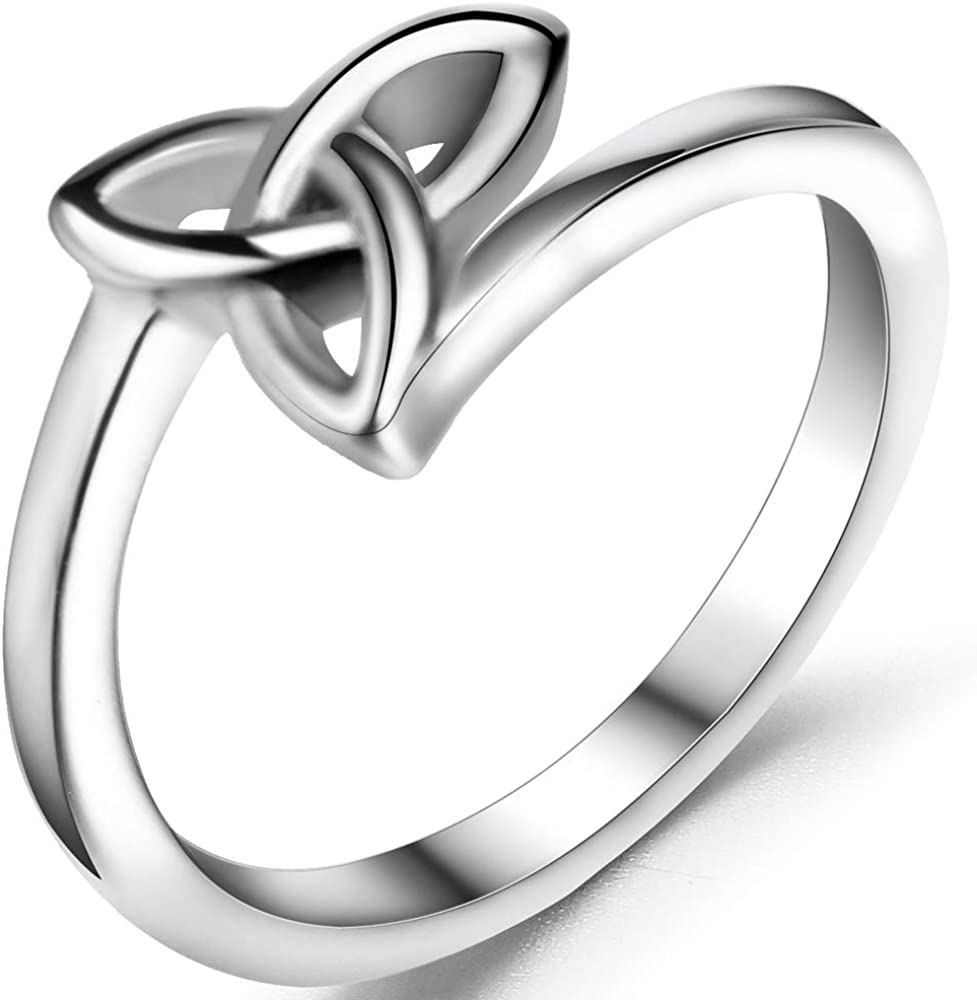 Jude Jewelers Stainless Steel Classical Celtic Knot Simple Plain Promise Ring