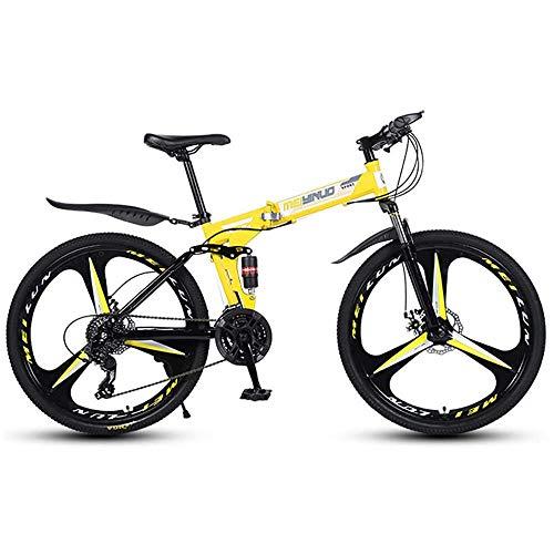 26-Zoll-Faltrennräder Faltrad Freizeit Freizeit-Falträder Fahrrad Faltrad Vollfederung Fat Tire Mountainbike, Speedbike Adult City Bikes, A, 24-Gang, für Fahrrad