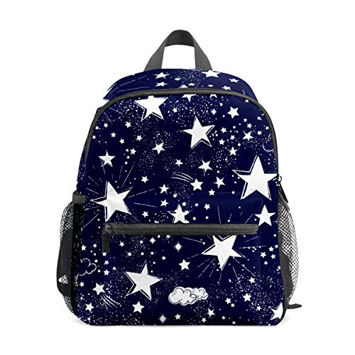 Mochila para niños preescolar, bolsa de escuela para niños de 1 a 6 años de edad, mochila perfecta para niños pequeños a Kindergarten Star negro oscuro
