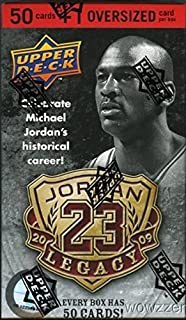 2009/2010 Upper Deck Michael Jordon LEGACY Factory Sealed Box Set with 50 Cards and Jumbo C- Card! Look for Rare $2,000 Micahel Jordan Autograph! A Must have for every Jordan Fan !