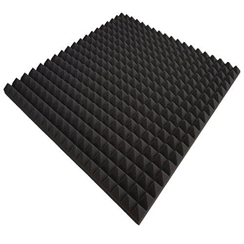 20 Akustikschaumstoff ca. 50x50x3cm, Anthrazit Schwarz, ca. 5m², Pyramidenschaumstoff, Noppenschaumstoff, Schaumstoff