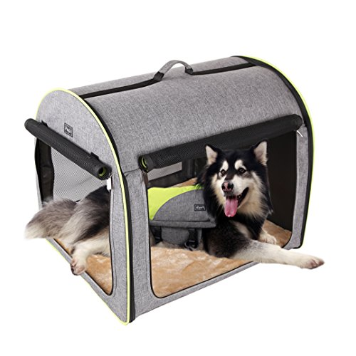 Petsfit 35'x29'x30'(LxWxH) Inches Large Soft Portable Dog Crate/Cat Crate/Foldable Pet Kennel/Indoor Outdoor Pet Home for Large Dogs