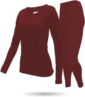 طقم ملابس داخلية للنساء من 9 ام كلوثينج كومباني ببطانة من الصوف الحراري وطبقة اساسية من الاعلى والاسفل
