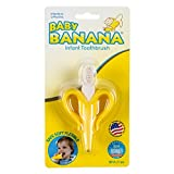 Baby Banana - Yellow Banana Toothbrush, Training Teether Tooth Brush for Infant, Baby, and Toddler