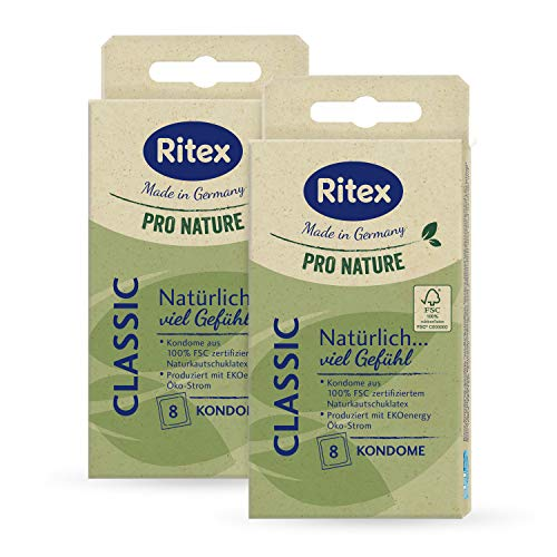 Ritex Pro Nature Classic Kondome, gefühlsecht, 16 Stück, Made in Germany