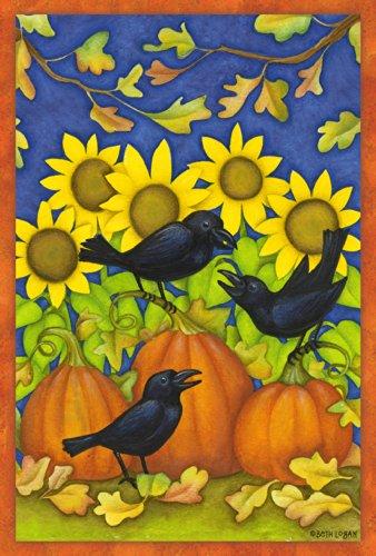 toland Maison Jardin Fall Corbeaux Jardin Drapeau 119645 L Black/Blue/Yellow/Orange/Green