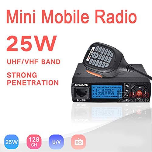 True-Ying Radio Profesional para Auto, BJ-218 VHF UHF Mobile Radio 10 KM Z218 10 km Dual Band Walkie-Talkie 10 km, Mini Car Walkie Talkie