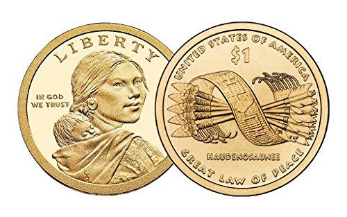 2010 P, D Native American (Sacagawea/Golden) Dollar 2 Coin Set Uncirculated