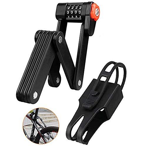 Bloqueo de la bicicleta plegable contraseña de 4 dígitos portátil anti-robo de seguridad del punto de cadeneta eléctrica de aleación de materiales 85cm extensible Cerraduras 8 Juntas de bicicleta