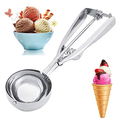 Cucharas de Helado LLMZ Bola de helado Scoop de acero inoxidable, Acero Inoxidable para Helado,Frutas,Puré de Papas,Tartas y Galletas,6cm
