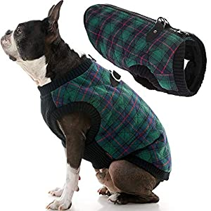 Checkered Quilted Bomber Dog Jacket - Our Dog coat for Small Dogs up to 35 lbs keeps your dog warm – Gooby Fashion sweater vest is made for small dogs that needs additional coverage during the cold weather. Our largest size will fit a dog UP TO 35 LB...