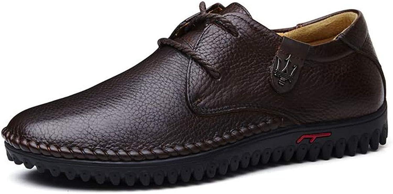 Dilunsizrf Chaussures en Cuir pour Hommes d'affaires Chaussures de Grande Taille Chaussures de Mode Chaussures pour Hommes polyvalentes,darkmarroncravate,46
