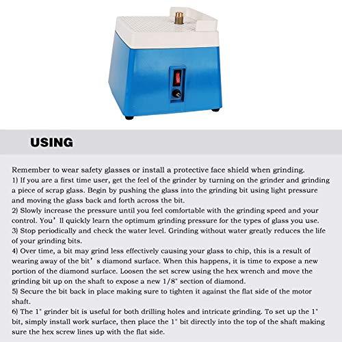 Máquina de pulir, amoladora de vidrio portátil, vidrio, mármol, cerámica para procesamiento de vidrio,(MD902-EU European standard blue 220V)