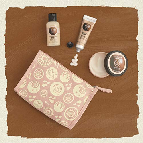 The Body Shop Shea Beauty Bag Gift Set, Includes Our Signature Shea Body Butter Enriched With Community Trade Shea Butter From Ghana, 3Piece