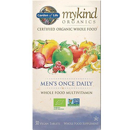 Garden of Life mykind Organics Men's Once Daily, 30 Vegan Tablets