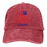 N \ A 4 de julio Día de la Independencia Casqueta al aire libre Gorra de béisbol de algodón ajustable sombrero unisex cubo accesorios de béisbol rojo