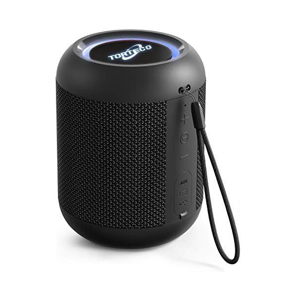Portable Bluetooth Speaker,Torteco E7-L Bluetooth Mini Speaker, Bassup,Gradient Light,IPX65...