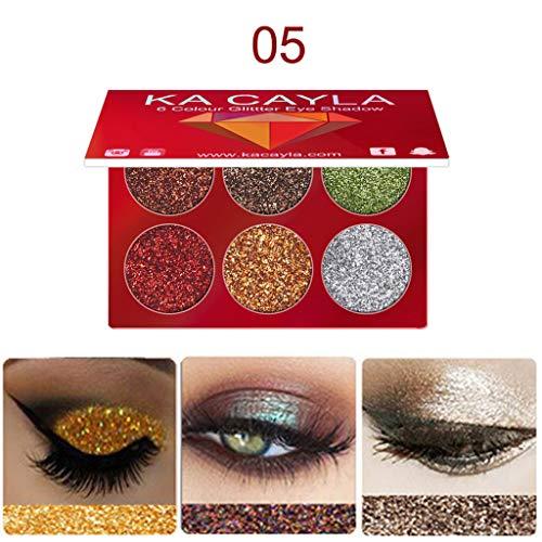 Hochwertiger 6-Farben-Lidschatten Make-Up Lidschatten Lidschatten-Palette Kosmetik Set Beauty Augen...