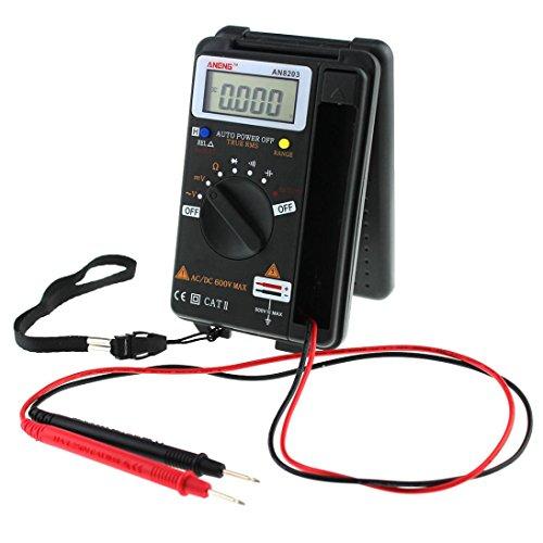 Ouneed- Multimètre Numérique Portable LCD AC / DC Gamme Testeur de Courant Multimètre Testeur Electrique (Noir)