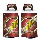 Pegatina De Vinilo Para Playstation 5 Edición Digital y 2 controladores - Edición Flash
