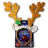 Halloween Reindeer Antlers Headband w Light Up Nose...