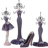 Porte-boucles d'oreilles, boîtes de rangement de bijoux, cintres de collier de mode, meubles de maison de poupée, meilleurs cadeaux pour dames